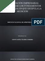 PRESENTACIÓN EMPRESARIAL DETERMINAR LOS FUNDAMENTOS EMPRESARIALES