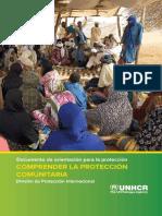 orientación para la protección comunitaria. ACNUR