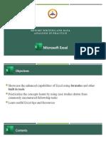 DLCF Digital Skills Bootcamp - Microsoft Excel - OMOTOSHO