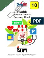 Health Quarter 1 Week 1