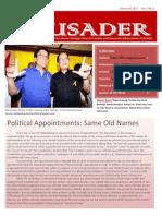 The Crusader - January 26, 2011 (Vol. 1, No. 6)