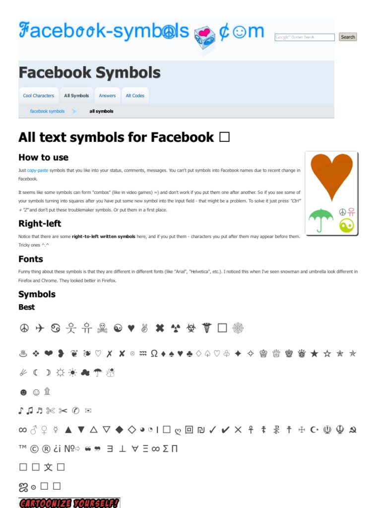 Cool symbols for facebook image collections symbol and sign ideas facebook symbols com planets in astrology astrology buycottarizona buycottarizona