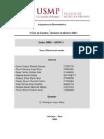 Tarea 11 - DIFERENCIAS DE MEDIAS