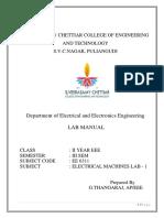 EE8311 Electrical Machines Lab - 1 manual.pdf