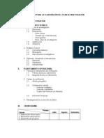 Modelo esquema de plan de investigación e informe de investigación