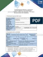 Guía de actividades y rúbrica de evaluación - Pre-Tarea – Reconocimiento del estudiante