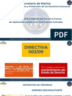 Semar 3 Presentación Directiva 003-09 y Manual Del Uso de La Fuerza