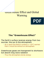 LECTURE 5 - Green house effect and global warming