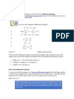 Differential Equation, its Basic Concepts