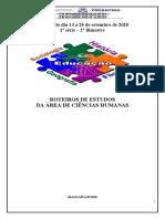 CIENCIAS HUMANAS - 1ª série - 14 a 26 de setembro APOSTILA