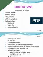 Memoir of tank