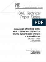 An Analysis of Ignition Delay, Heat Transfer and Combustion During Dynamic Load Changes in a Diesel Engine