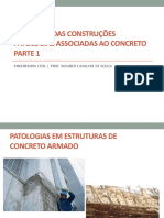 Aula 17 a 18 - Patologias associadas ao concreto e aço - parte 1
