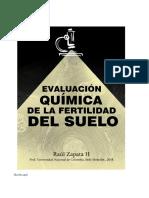 EVALUACIÓN QUÍMICA DE LA FERTILIDAD DEL SUELO