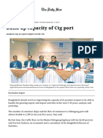 Build up Capacity of Ctg Port