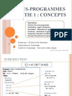 0012- Sous-programmes (Partie 1 - Concepts)
