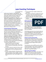 Employee Coaching Techniques