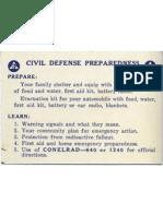 Civil Defense Wallet Card