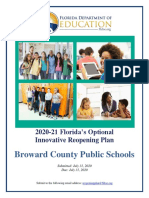 Broward County Public Schools Reopening Plan
