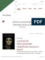 Laurent-¿Qué es un psicoanálisis orientado hacia lo real? – Freudiana