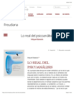 Bassols-Lo real del psicoanálisis – Freudiana