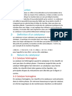 Introduction catalyseur