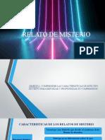 RELATO DE MISTERIO PPT SEMANA 08 septiembre