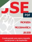 Propuesta programatica JSE a las Elecciones Generales 2008