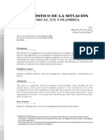 DIAGNÓSTICO DE LA SITUACIÓN MUSICAL EN COLOMBIA