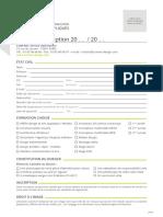 Dossier d'Inscription 2020 2021