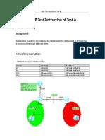 eNSP Test intruction of Test A