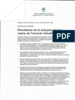 Comunicado Informe de Autopsia - Facundo Astudillo Castro