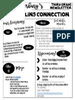 september  third grade newsletter