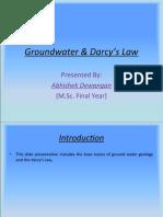 Hydrogeology darcy's law