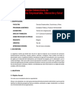 Carta Descriptiva Teoria de la  Organizacion
