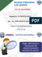 METODOS Y TECNICAS DE INVESTIGACION ANTROPOLOGICA