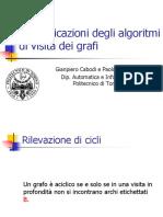 17 Le applicazioni degli algoritmi di visita dei grafi