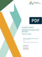 ALCANCE TECNICO REPARACION CANALETA DE RELAVES