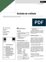 Acetate de Methyle