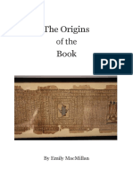 The Origins of the Book by Emily MacMillan