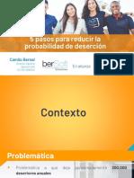 Presentación 5 Pasos para reducir la probabilidad de deserción