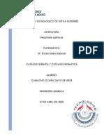CATÁLISIS QUÍMICA Y CATÁLISIS ENZIMÁTICA