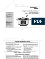 Hamilton Beach Slow Cooker manual