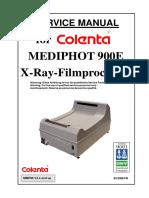 Colenta Mediphot 900E Filmprocessor - Service manual