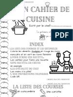 Cahier de la cuisine
