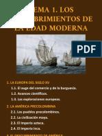 PP. TEMA 1. Los descubrimientos de la Edad Moderna