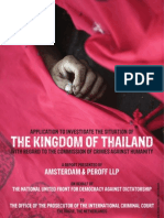 Red Shirts Application to the International Criminal Court to Investigate Crimes against Humanity in Thailand