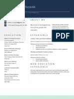 curriculum vitae joshua reynolds- portfolio