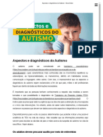 Aspectos e diagnósticos do Autismo - NeuroSaber