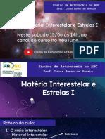 AULA 08 -material.interestelar